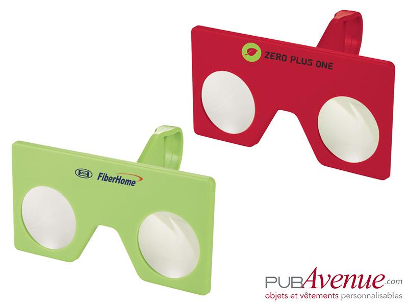 Mini paire de lunettes réalité virtuelle personnalisables