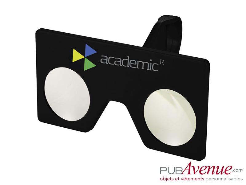 Mini lunettes réalité virtuelle publicitaires