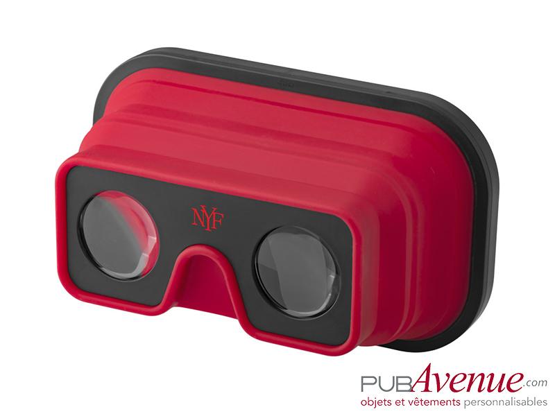 Lunettes pliables réalité virtuelle publicitaires