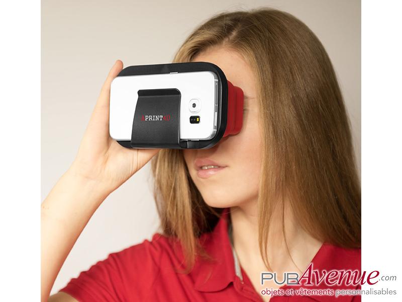 Paire lunettes pliables réalité virtuelle publicitaires