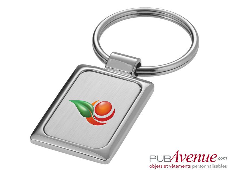 Porte-clés métal rectangulaire personnalisable