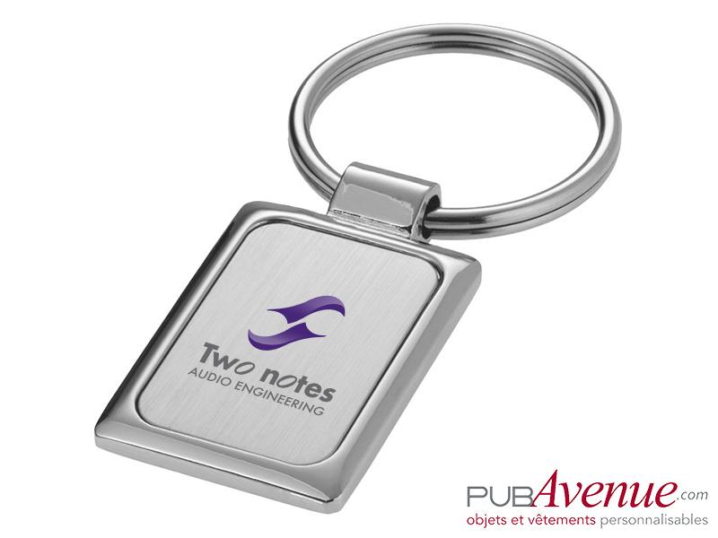 Porte-clés personnalisé métal rectangulaire