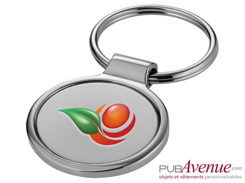Porte-clés métal rond personnalisable