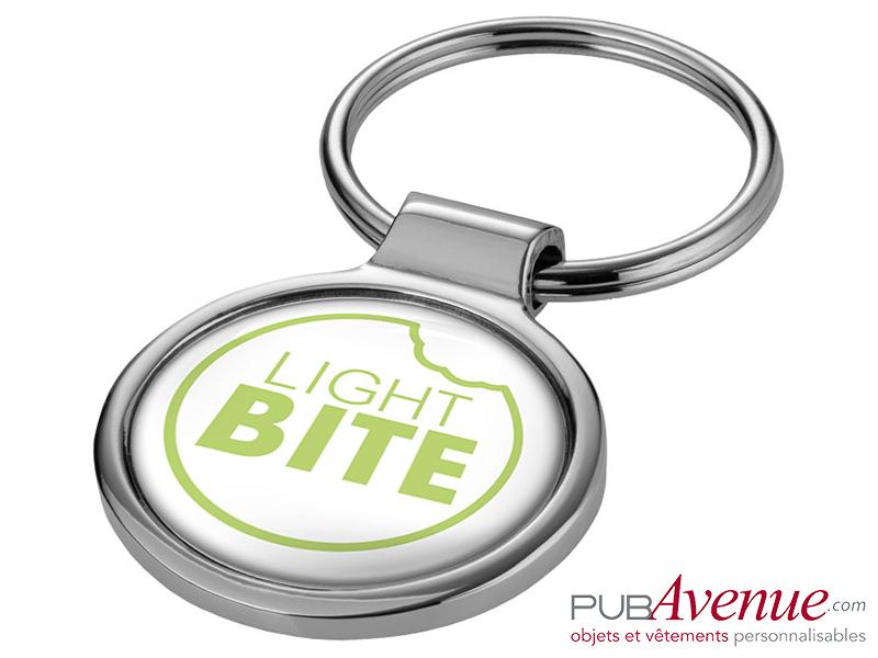 Porte-clés publicitaire métal rond
