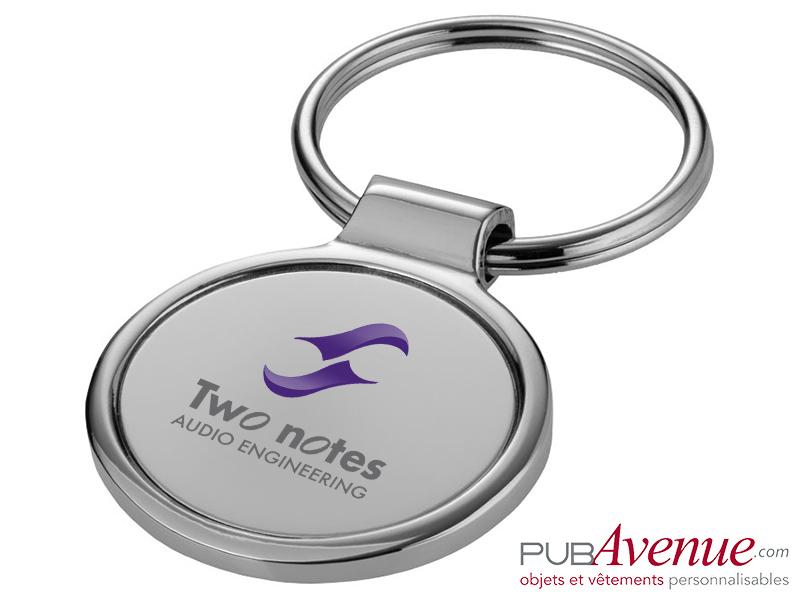 Porte-clés personnalisé métal rond