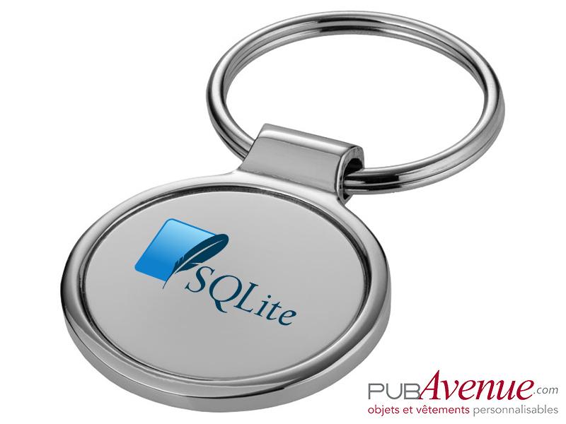 Porte-clés personnalisable métal rond