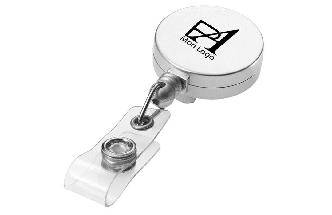 Porte Badge Personnalisé Marquage Logo Texte Publicitaire Enrouleur - Porte badge pas cher