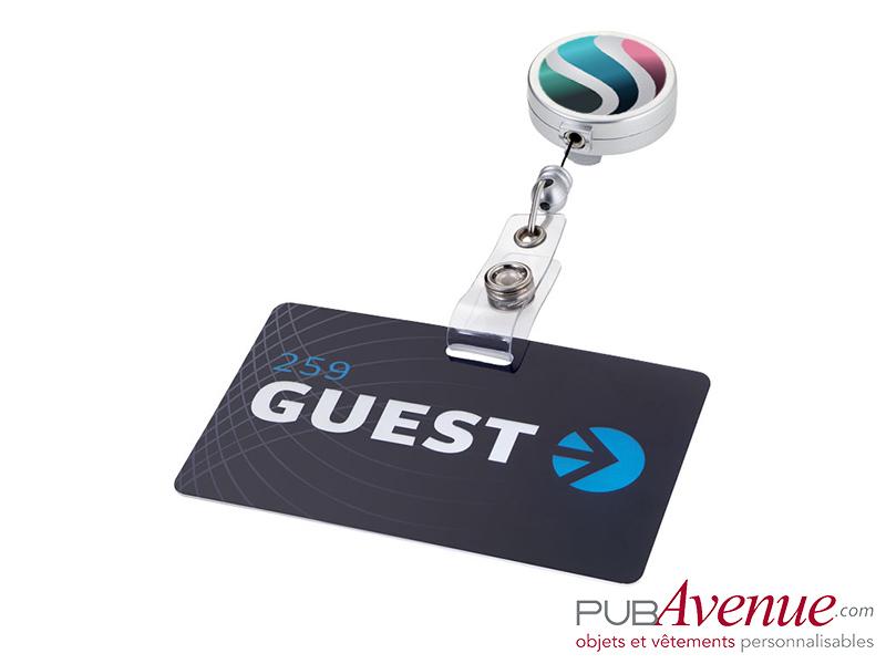 Porte badge clip enrouleur personnalisé