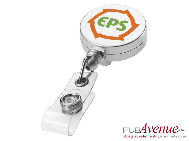 Porte badge clip personnalisable enrouleur
