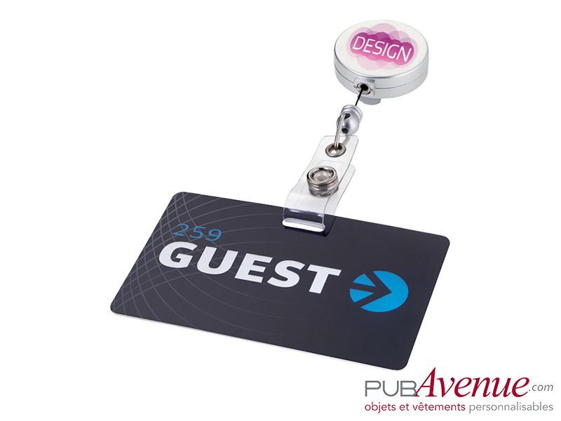 Porte badge clip personnalisé enrouleur