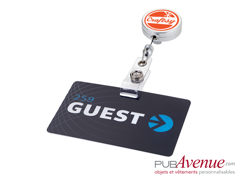 Porte badge clip enrouleur personnalisable
