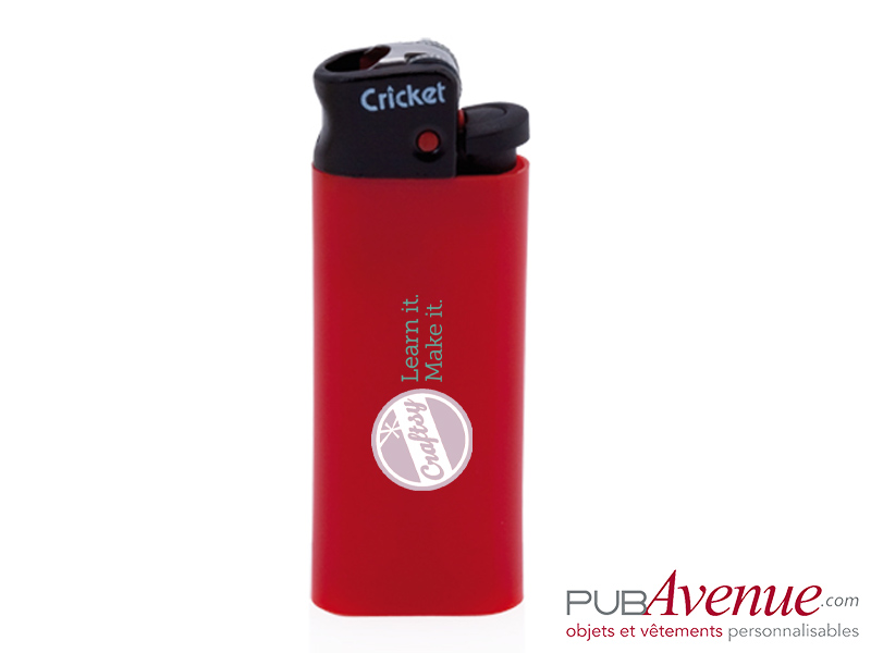 Mini briquet publicitaire cricket