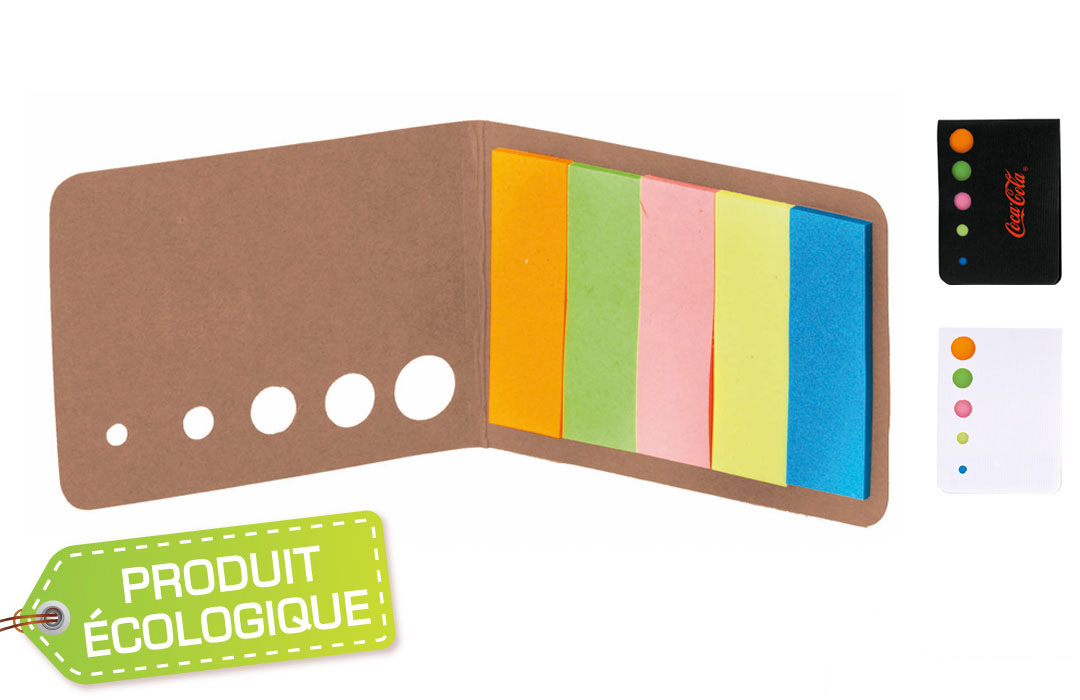 Carnet à Post-it en carton recyclé