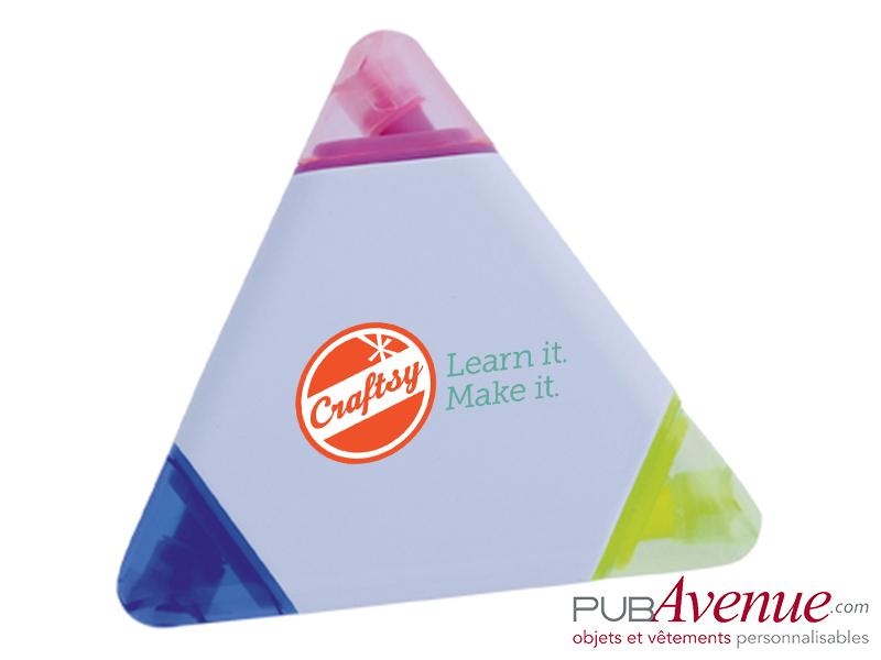Marqueur triangle feutre fluo publicitaire