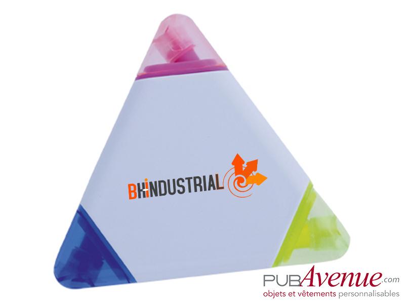 Marqueur triangle publicitaire feutre fluo