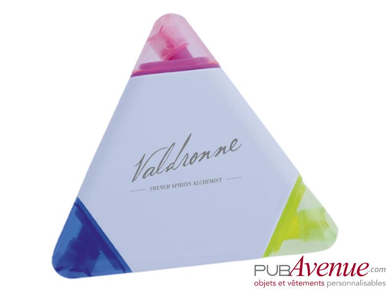 Marqueur triangle feutre fluo personnalisé