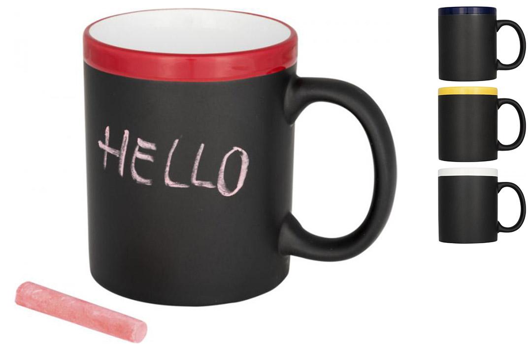 mug publicitaire tasse ardoise en c ramique avec craie personnaliser. Black Bedroom Furniture Sets. Home Design Ideas