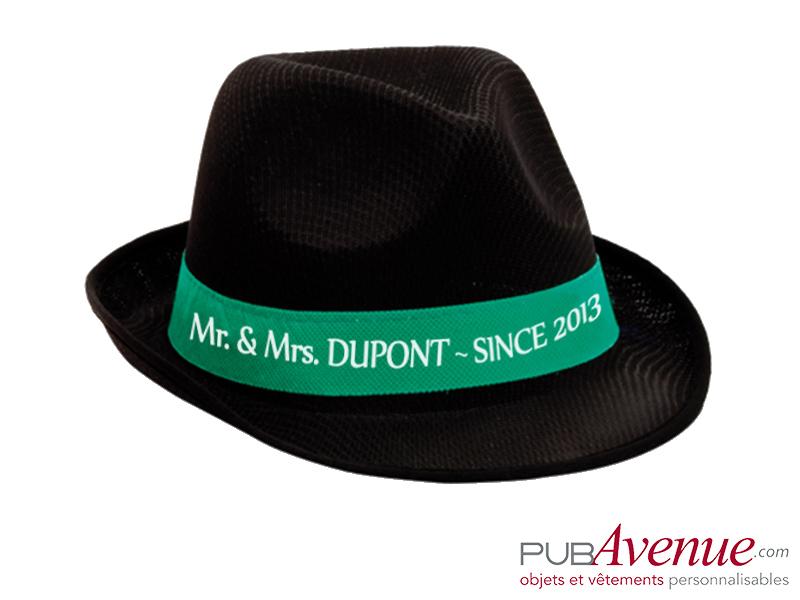 Chapeau coloré mariage personnalisé