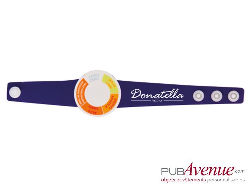 Bracelet indicateur UV personnalisable