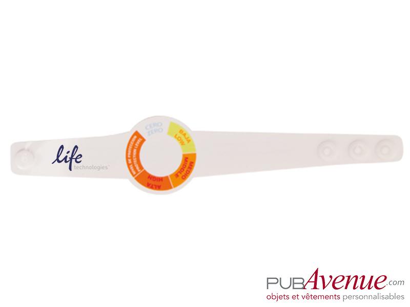 Bracelet indicateur UV personnalisé