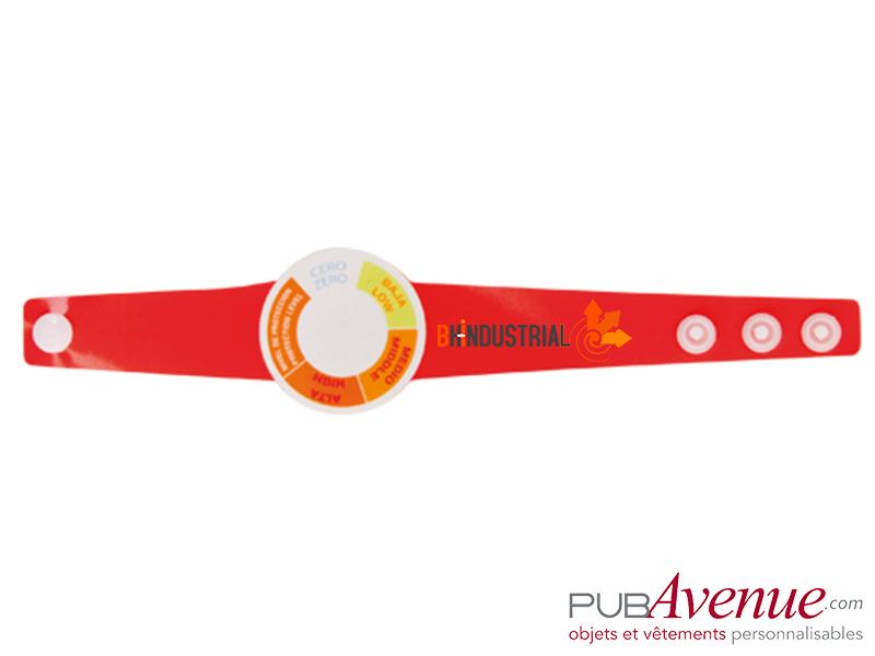Bracelet indicateur UV publicitaire