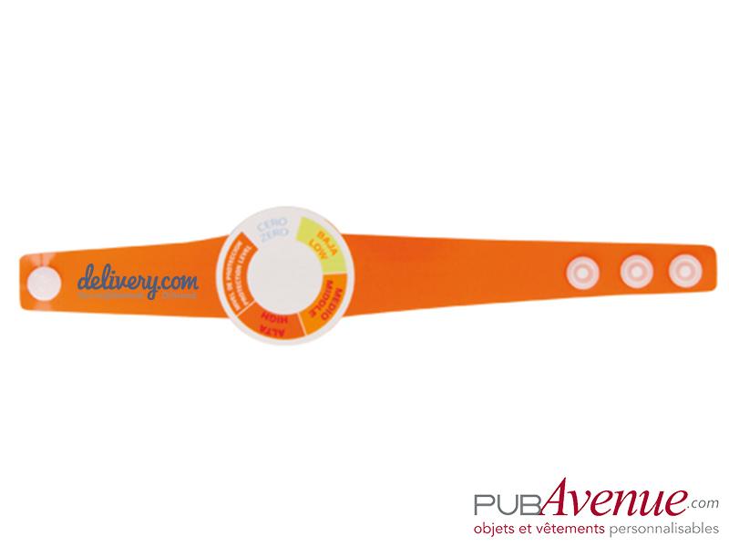 Bracelet personnalisable indicateur UV