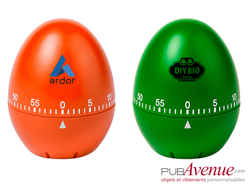 Minuteur personnalisable œuf