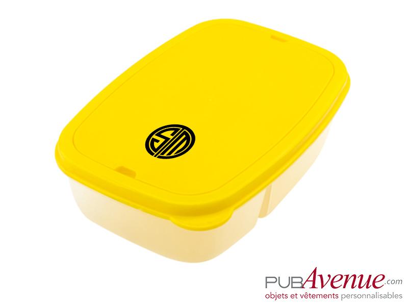 Boîte repas avec couverts personnalisable