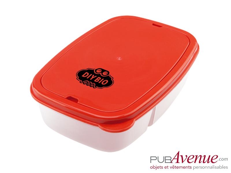 Boîte repas personnalisée avec couverts
