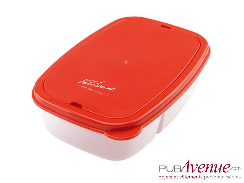 Boîte repas avec couverts personnalisée
