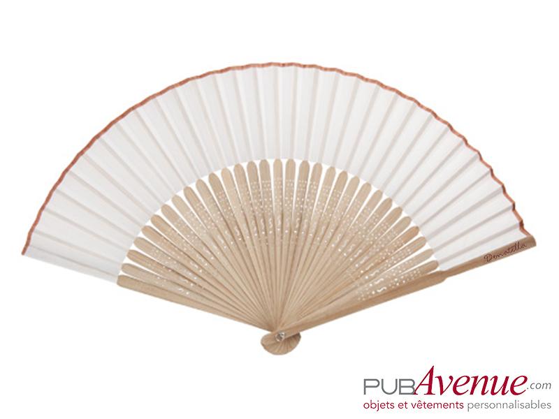 Éventail bambou personnalisable