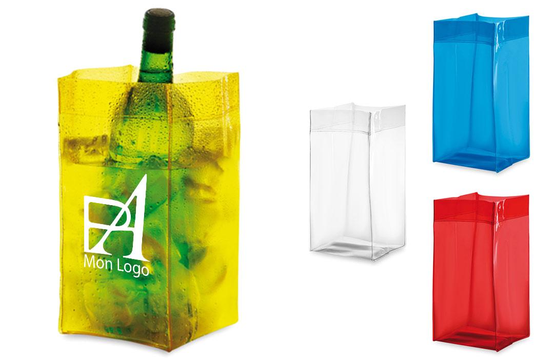 sac gla on pour bouteille personnalis logo texte publicitaire pas cher. Black Bedroom Furniture Sets. Home Design Ideas