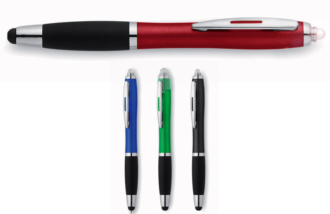 Stylo publicitaire fantaisie multifonction stylet & led