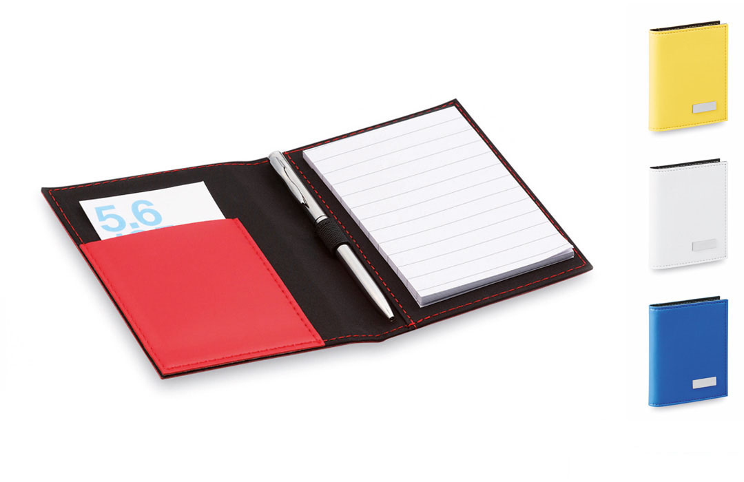 Bloc-notes chic en similicuir avec stylo