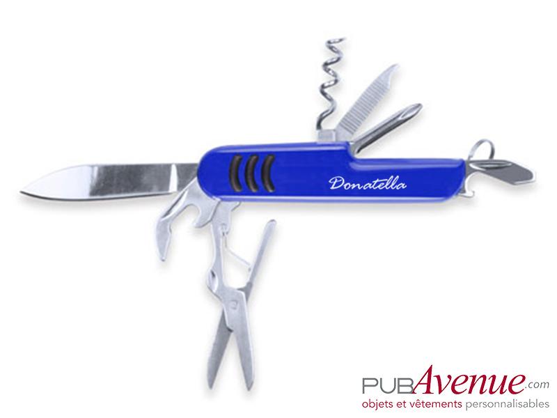 Couteau canif personnalisé 9 fonctions