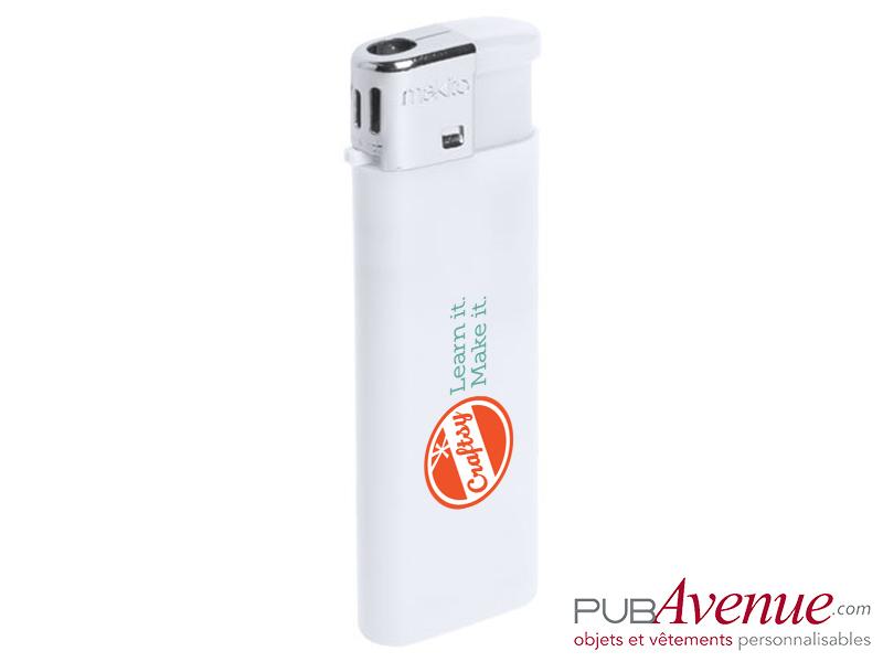 Briquet personnalisé rechargeable