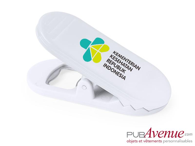 Ouvre-bouteille personnalisable clip magnétique