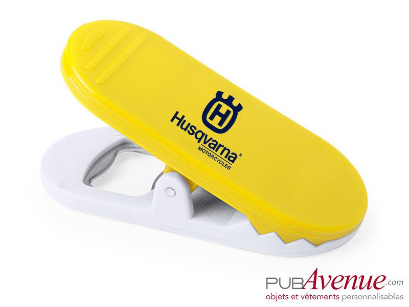 Décapsuleur personnalisable clip magnétique