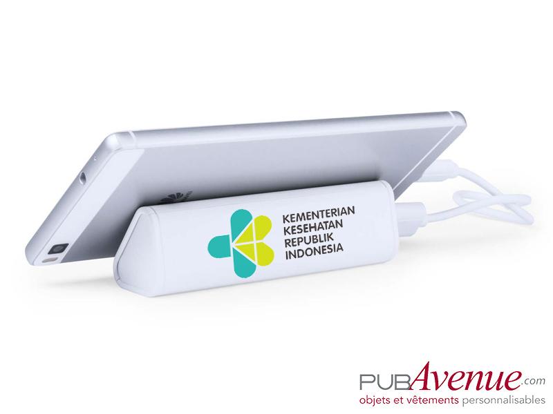 Chargeur externe publicitaire portable 2200mAh