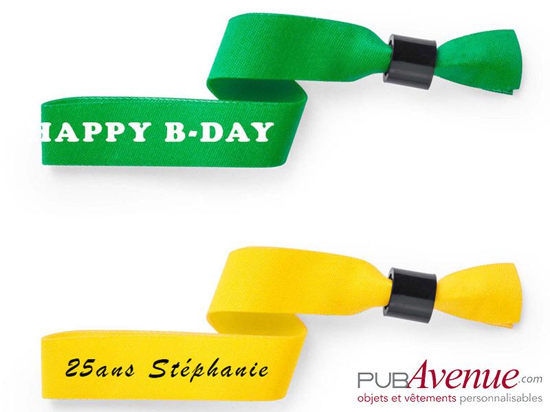 Bracelet tissus personnalisé anniversaire