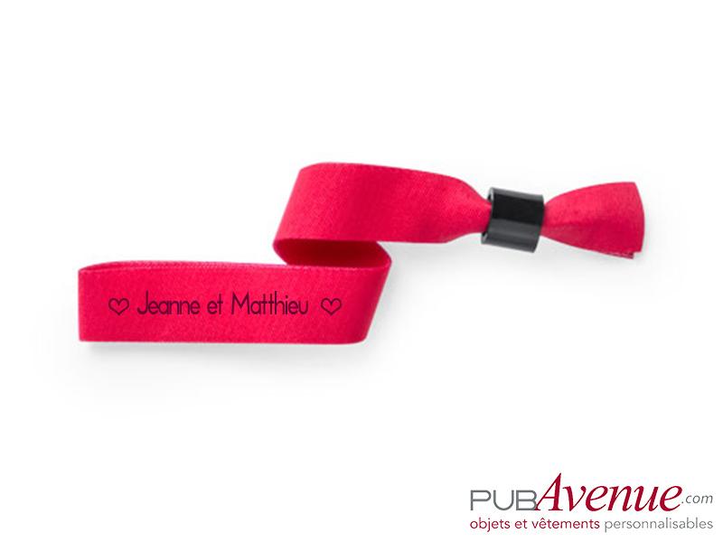 Bracelet tissus mariage personnalisé