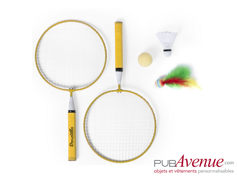 Set badminton de plage personnalisable