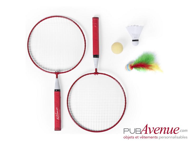 Set badminton de plage publicitaire