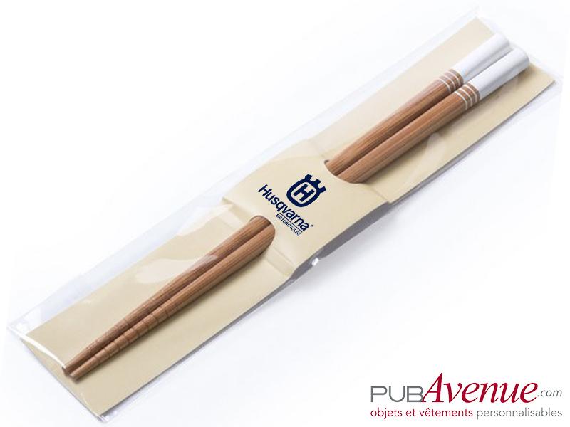 Baguettes chinoises personnalisées bambou