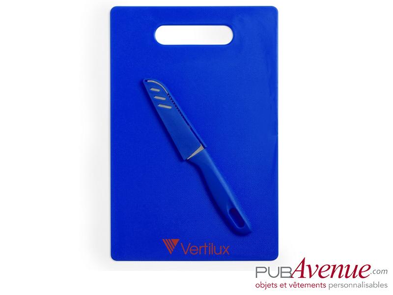 Planche cuisine avec couteau personnalisable