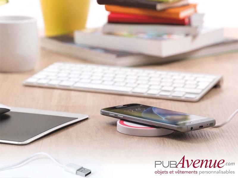 Chargeur induction téléphone personnalisable