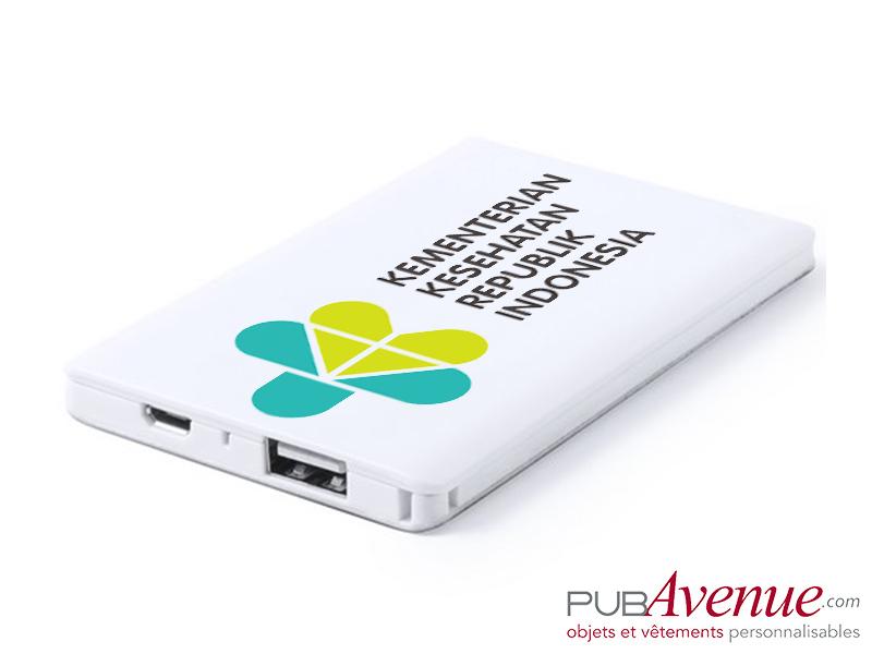 Powerbank personnalisé 2000 mAh batterie de secours