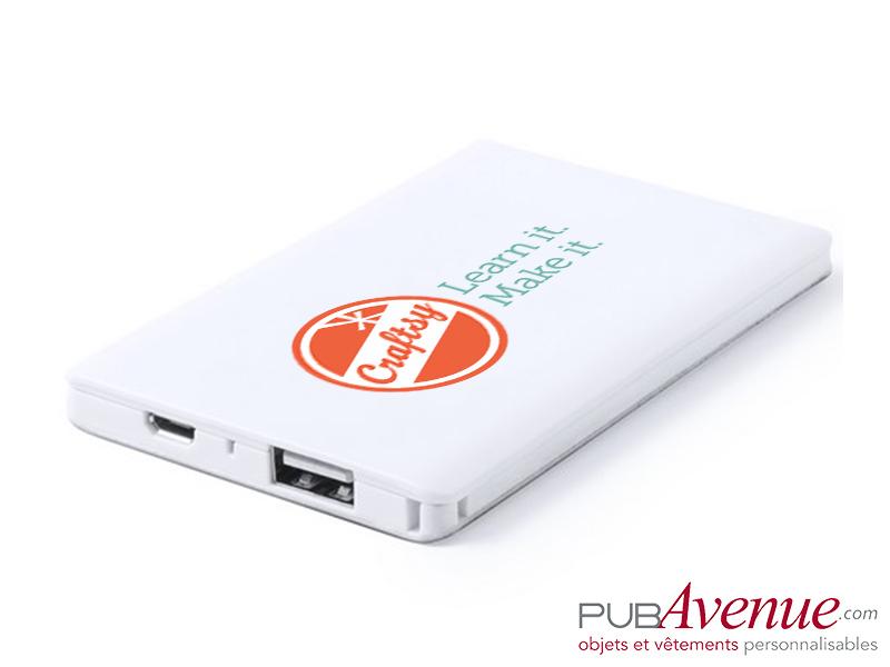 Powerbank 2000 mAh batterie de secours personnalisée