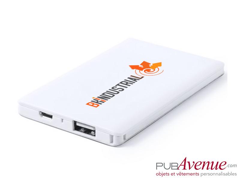 Powerbank 2000 mAh batterie de secours publicitaire