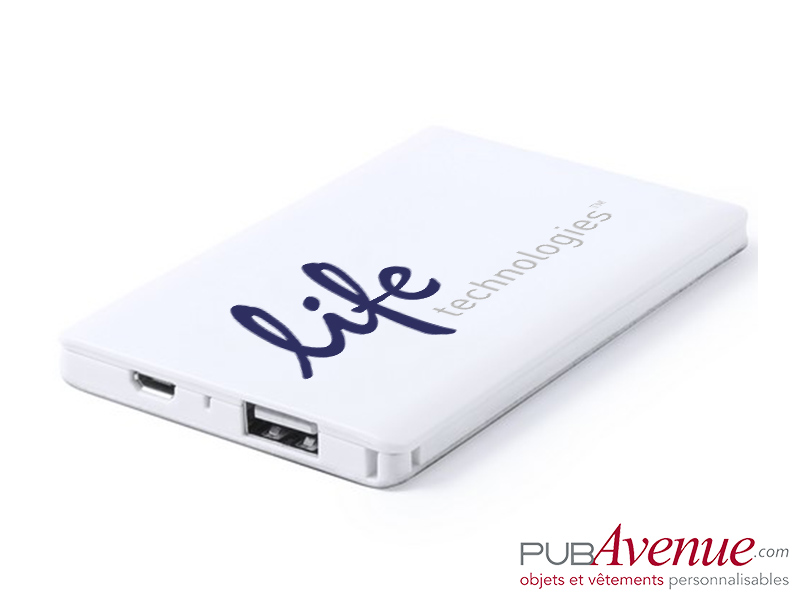 Powerbank personnalisable 2000 mAh batterie de secours